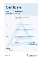 Linguland is a certified DIN ISO 9001 company